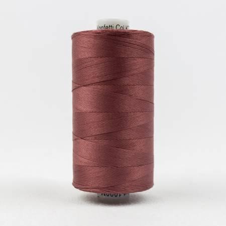 Konfetti 50# 3 Ply Cotton Thread 1000m Spool - 811-Barn Red
