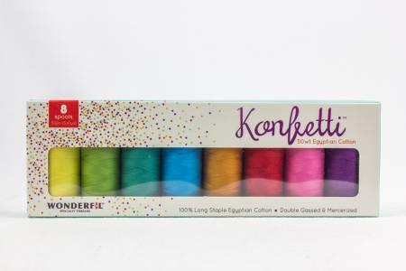 Konfetti 8-Spool Thread Set Spectrum