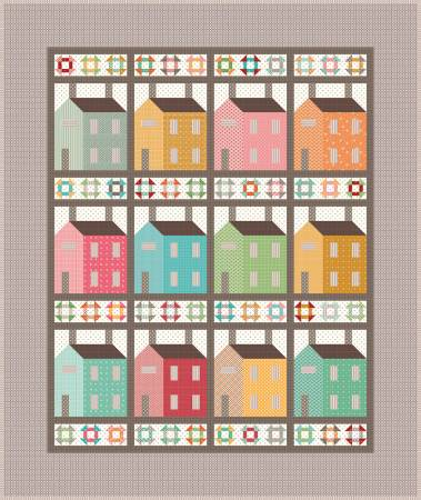 Prim Village Quilt Kit, 57in x 68in