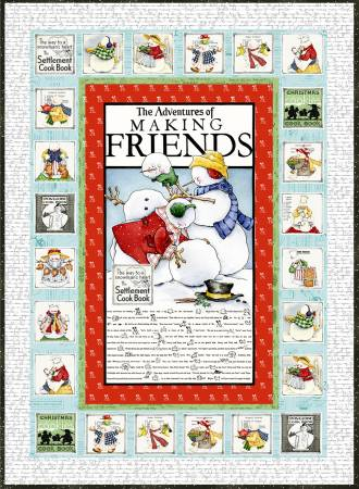 Snow Sweet Advent Quilt Kit 55inx77in incl