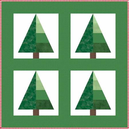 Central Park In Christmas Mini Quilt Kit (20.5 x 20.5) - Riley Blake Designs