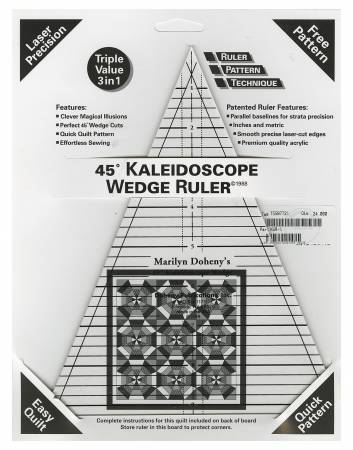 45 Degree Kaleidoscope Wedge Ruler