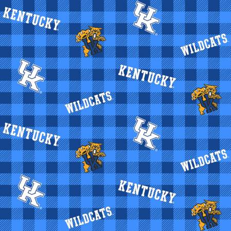 NCAA-Kentucky Wildcats Buffalo Plaid Cotton