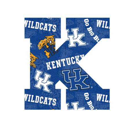 NCAA-Kentucky Collegiate Iron On 5in Tall Letters,