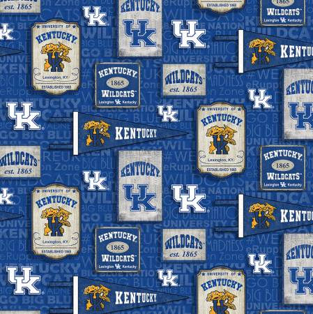 NCAA-Kentucky Wildcats Vintage Pennant Cotton
