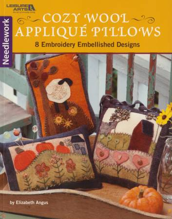 BOOK Cozy Wool Applique Pillows  - Softcover