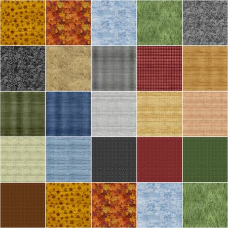 The Land I Love:  10 x 10 Squares - 42 piece Fabric Square Pack from Benartex