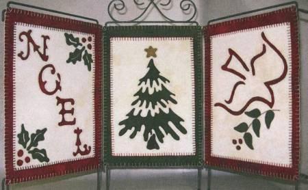 Holiday Trio Wool Applique Pattern#LAS115
