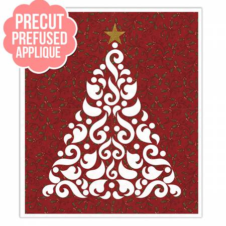 Holly Red Silhouette Christmas Tree 20in