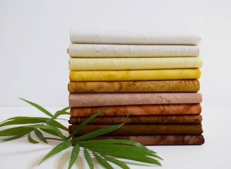 Fat Quarter Lava Tonal Golden Brown 10pcs/bundle