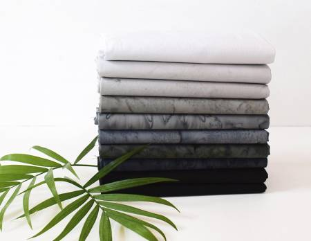 Fat Quarter Lava Tonal Nightfall 10pcs/bundle
