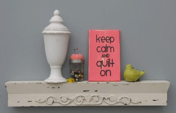 Keep Calm Sign Pink