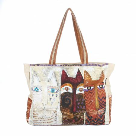 Laurel Burch Over sized Tote Ancestral Cats