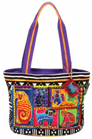 Medium Tote with Dog Tails Patchwork from Laurel Burch LB5210