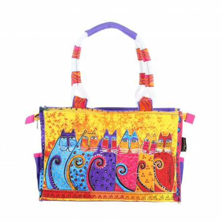 Laurel Burch Medium Tote Feline Tribe