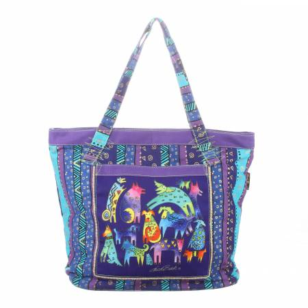 Laurel Burch Shoulder Tote Bag Mythical Dogs