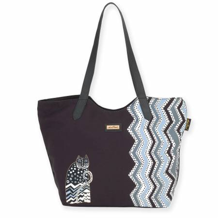 Scoop Tote Artistic Canvas Polka Dot Cat