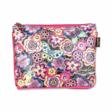 Purple Multi Floral Cosmetic Bag