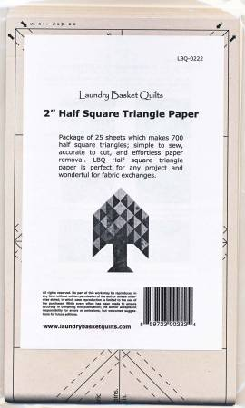 Half Square Triangle Paper 2in