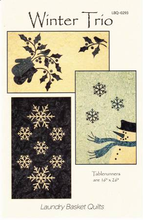 Winter Trio Table Runner by Edyta Sitar from Laundry Basket Quilts