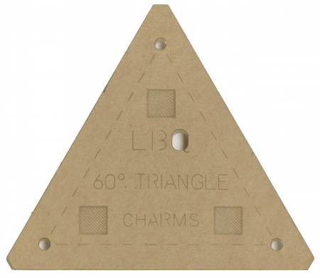 60 Degree Triangle Charms Template