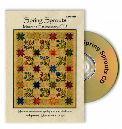 CD Spring Sprouts Machine Embroidery