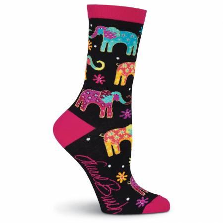 Laurel Burch Elephants Women's Crew Socks