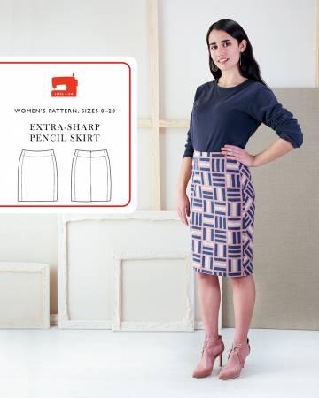 Pattern Extra Sharp Pencil Skirt - Liesl & Co.