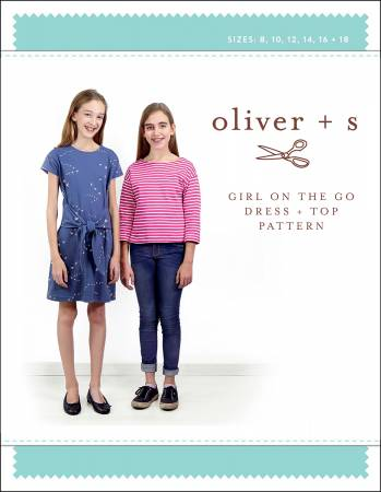 Girl On The Go Dress and Top Pattern - Oliver & S.