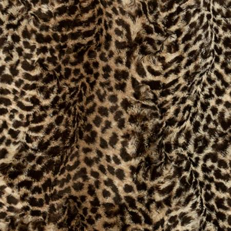 Shannon Fabrics Luxe Cuddle Cheetah Embossed Chocolate