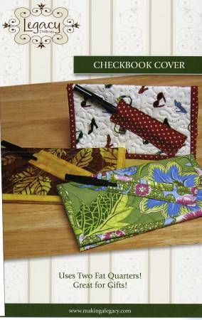 Check Book Cover Pattern Fat Quarter Friendly