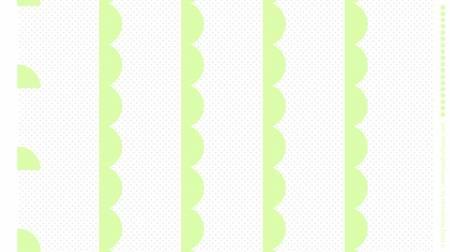 Scallop border print Panel, Lettuce green