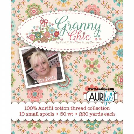 Granny Chic Thread Collection by Lori Holt 50wt 10 Small Spools