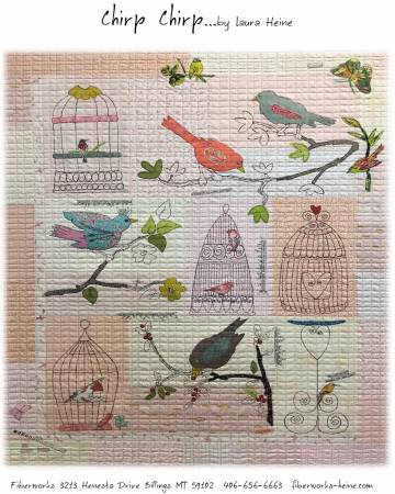 Chirp Chirp Quilt Pattern By Laura Heine of Fiberworks