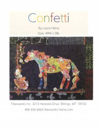 Confetti Horse Collage by Laura Heine