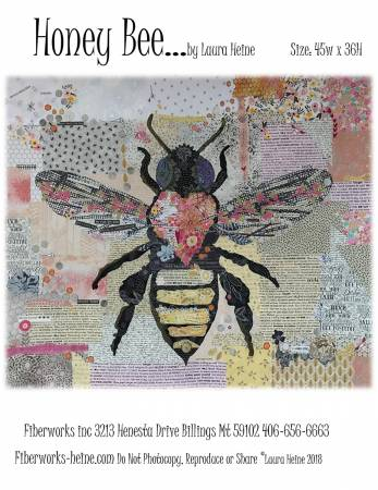 Honey Bee Collage Pattern