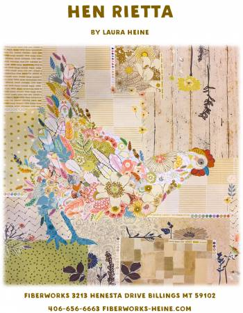 Hen Rietta Collage Quilt Pattern By Laura Heine of Fiberworks