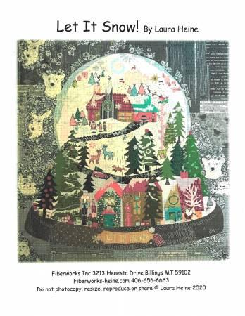 Laura Heine Let it Snow Collage Pattern