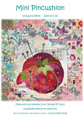 Mini Pin Cushion Collage Quilt Pattern By Laura Heine of Fiberworks