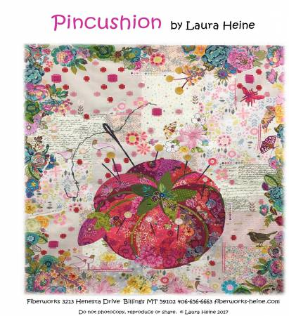 Pincushion Collage Pattern by Laura Heine 42x 45