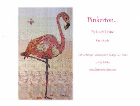 Collage pattern Pinkerton flamingo