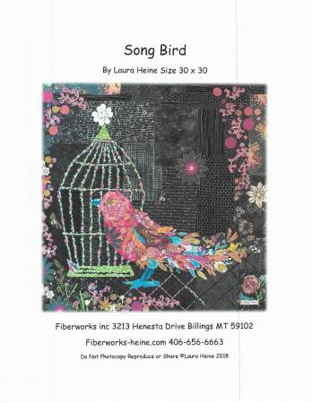 Laura Heine Song Bird Collage Pattern