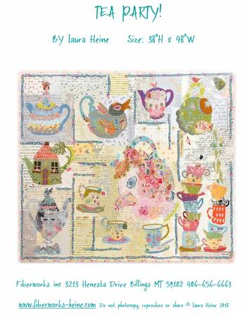 Laura Heine Tea Party Collage Pattern - LHFWTEA