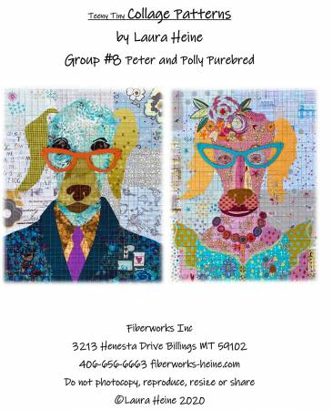 Teeny Tiny Group 8 Peter and Polly Purebred Collage Pattern by Laura Heine