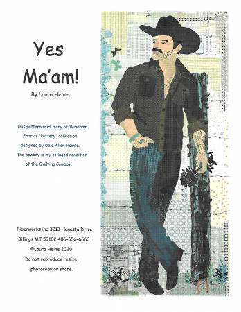 Yes Ma'am Collage Pattern by Laura Heine