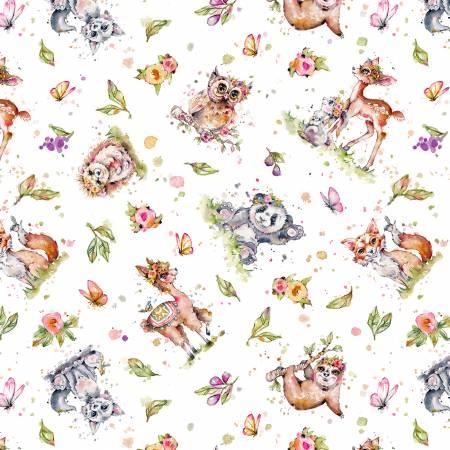 Multi Toss Animals p % B fabrics
