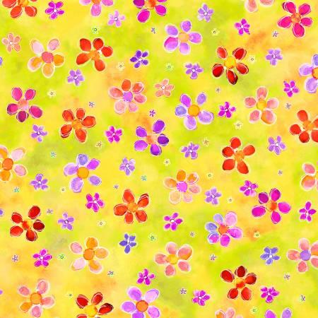 Multi Flowers Digitally Printed
