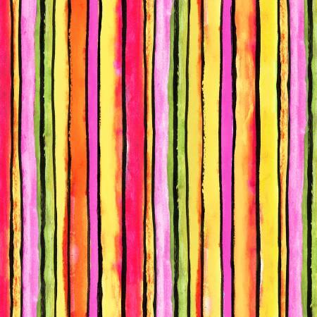 Multi Stripe Digitally Printed
