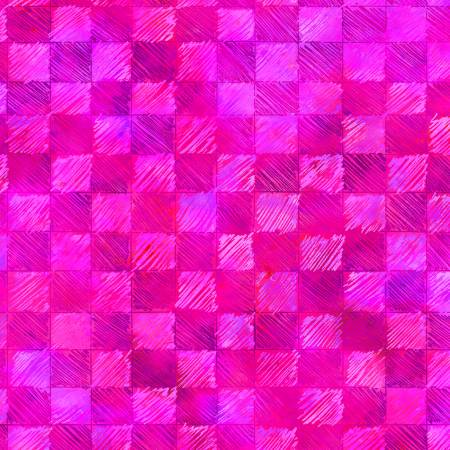 Pink Checks Digitally Printed