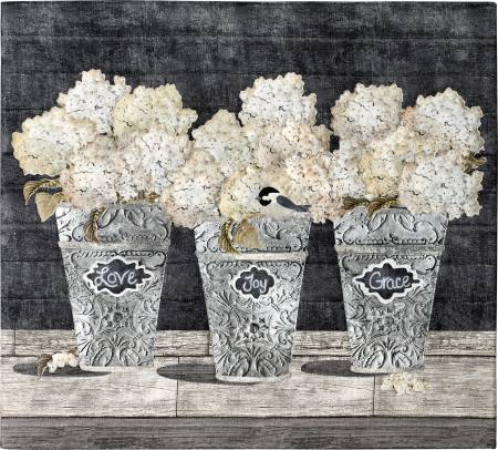 Buckets of Blooms Applique Pattern